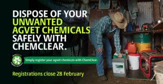 Upcoming collection for SA and WA chemical holders