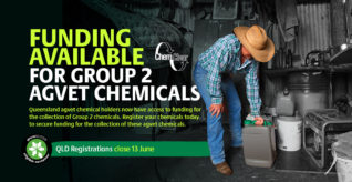 Funding approved for Group 2 Chemicals in QLD Collection